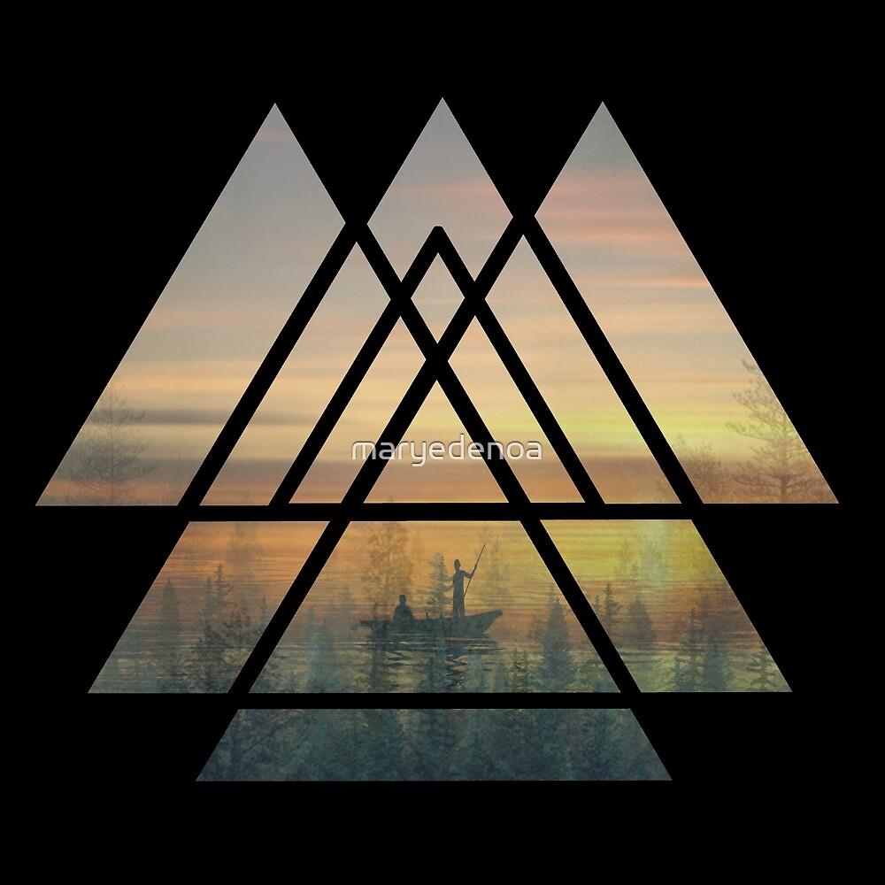 Heilige Geometrie-Dreiecke von maryedenoa