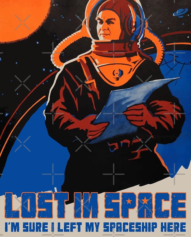 Kosmonaut im Weltraum verloren von monsterplanet