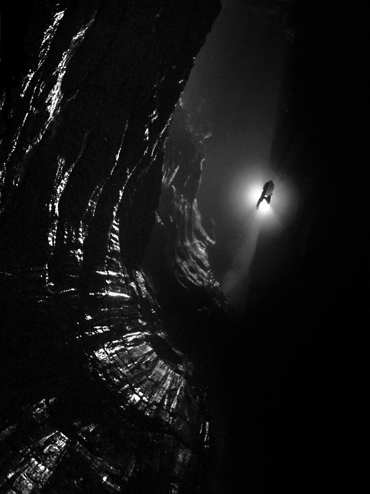 Looking down Titan's Great Cave by Rob Eavis