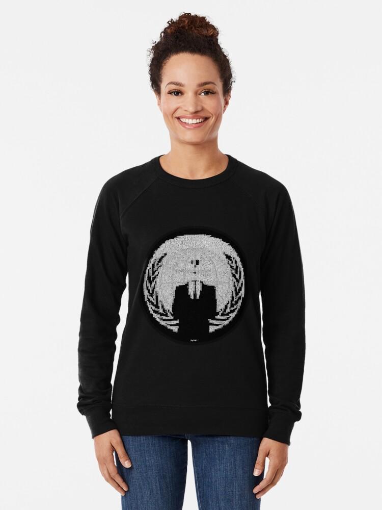 Alternate view of _A^NON ASCii ^RT by RootCat __2019 Lightweight Sweatshirt