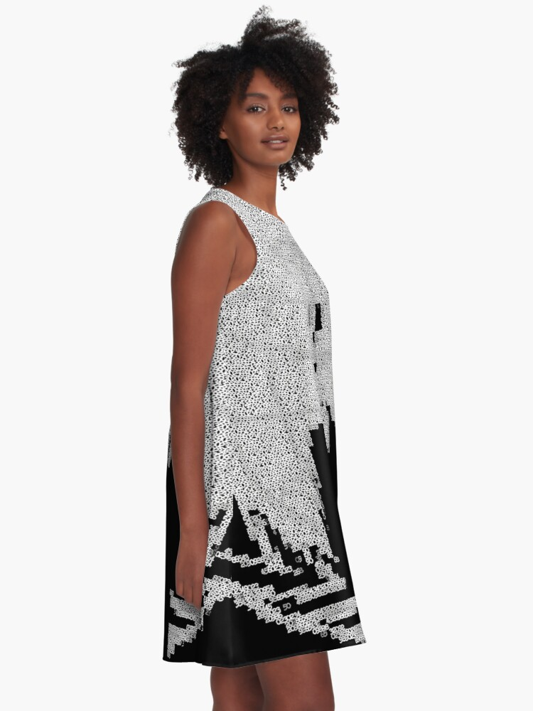 Alternate view of _A^NON ASCii ^RT by RootCat __2019 A-Line Dress