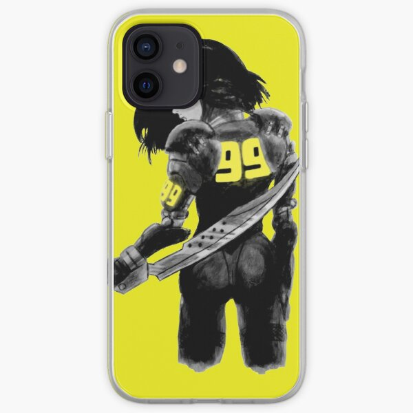 Manga Angel with Yellow accents iPhone Soft Case