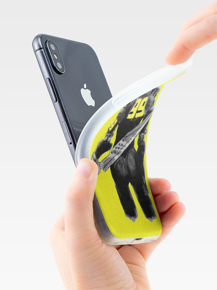 Alternate view of Manga Angel with Yellow accents iPhone Case & Cover