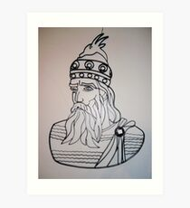 Our national hero Skanderbeg Art Print