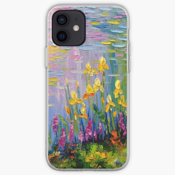 Flowers by the pond iPhone Soft Case