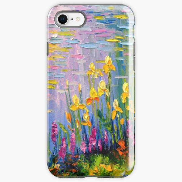 Flowers by the pond iPhone Tough Case