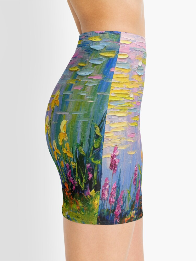 Alternate view of Flowers by the pond Mini Skirt