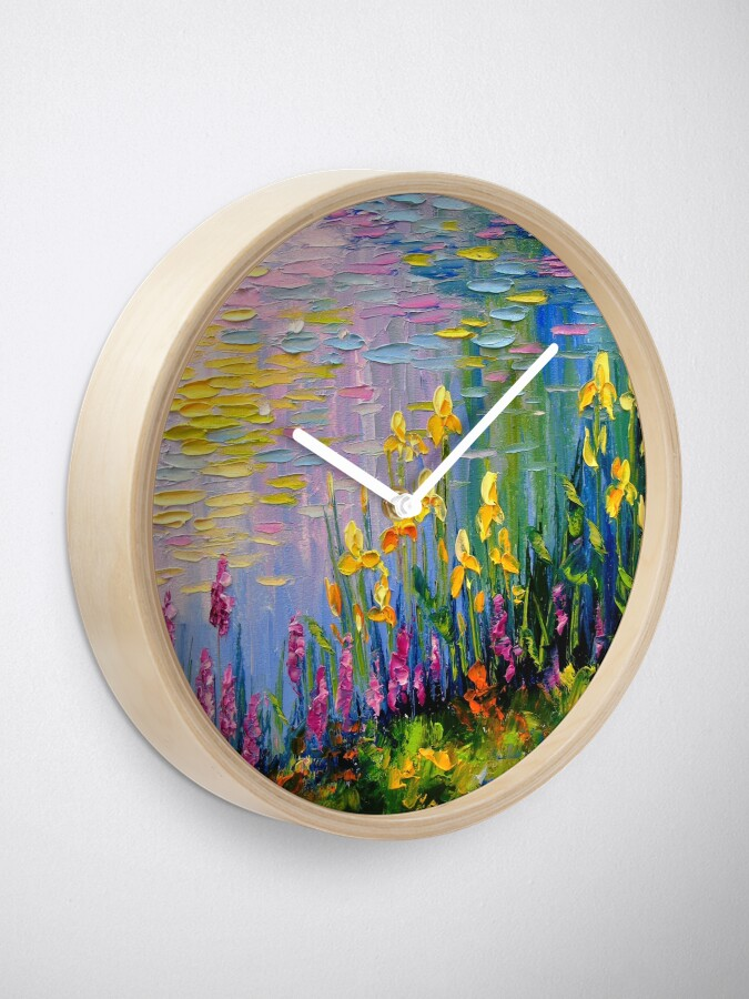 Alternate view of Flowers by the pond Clock
