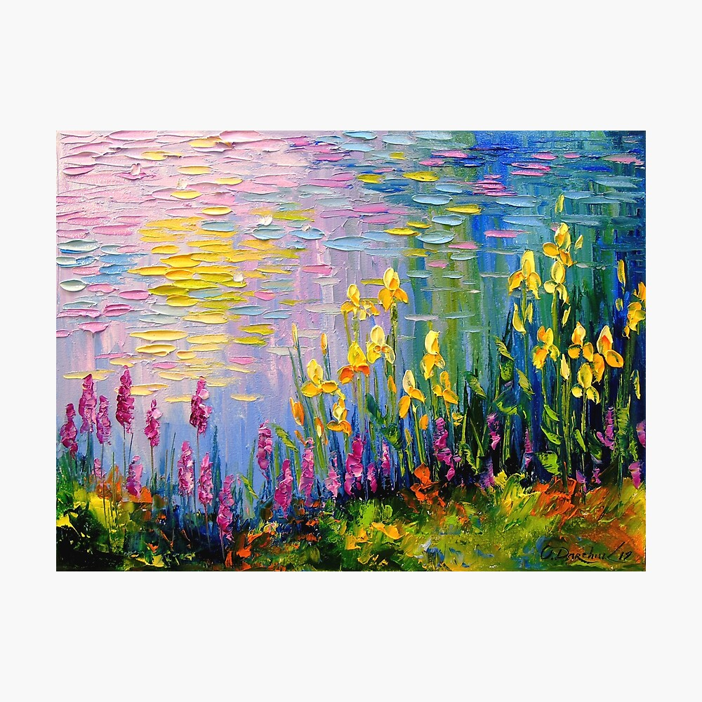 Flowers by the pond Photographic Print
