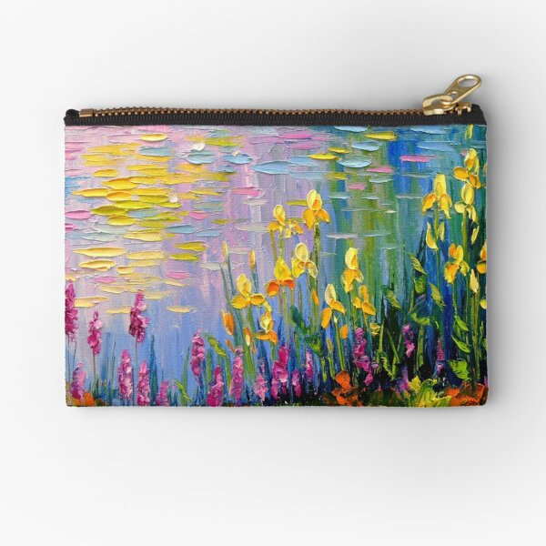 Flowers by the pond Zipper Pouch