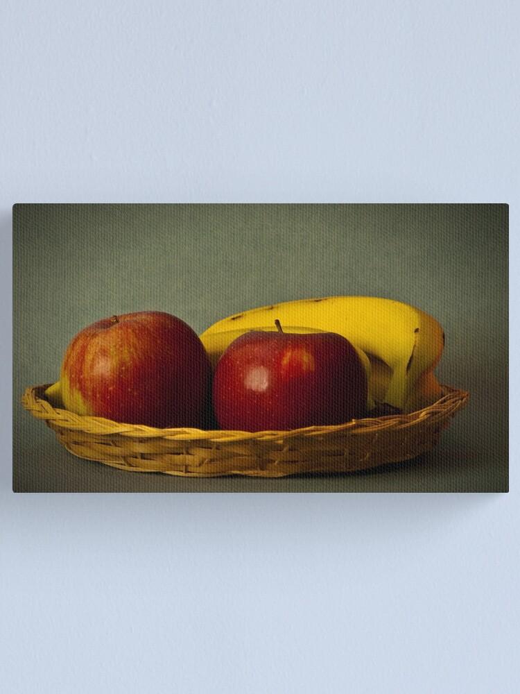 Alternate view of Cesto di mele e banane Canvas Print