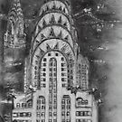 Chrysler Building Preliminary Drawing by Christopher Ripley