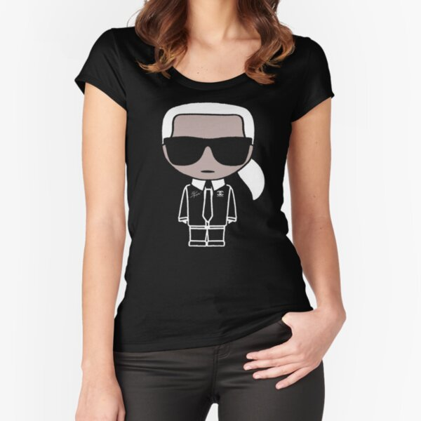 Karl Funny Fitted Scoop T-Shirt