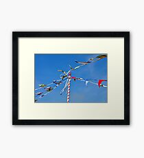 Summer bunting Framed Print