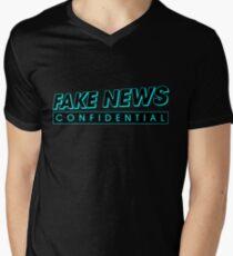 Fake News Confidential Logo V-Neck T-Shirt
