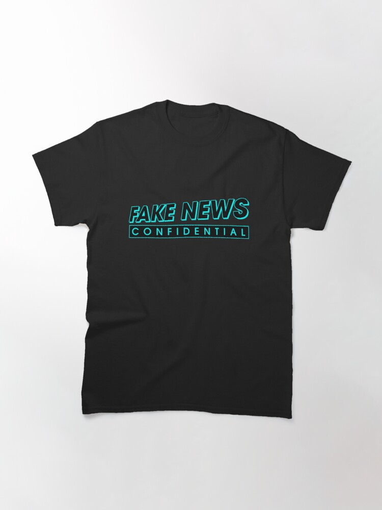 Alternate view of Fake News Confidential Logo Classic T-Shirt