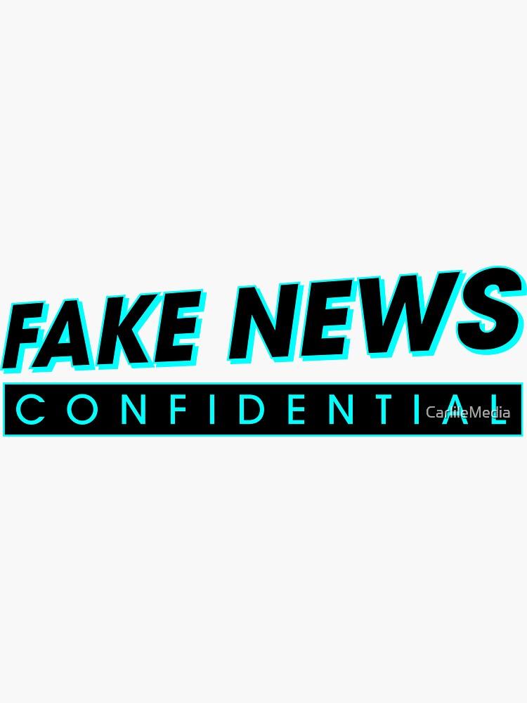 Fake News Confidential Logo by CarlileMedia