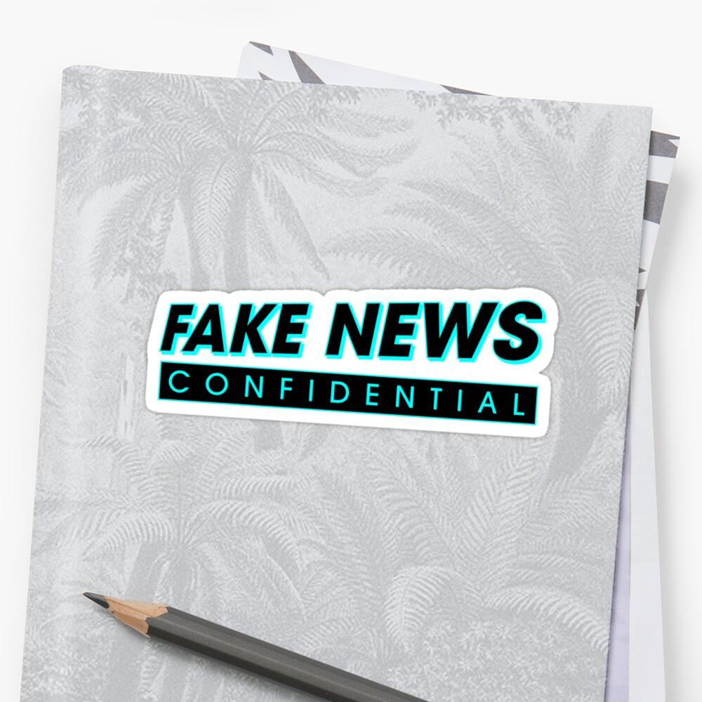 Fake News Confidential Logo Sticker