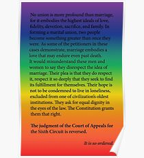 Gay Marriage SCOTUS Ruling Poster
