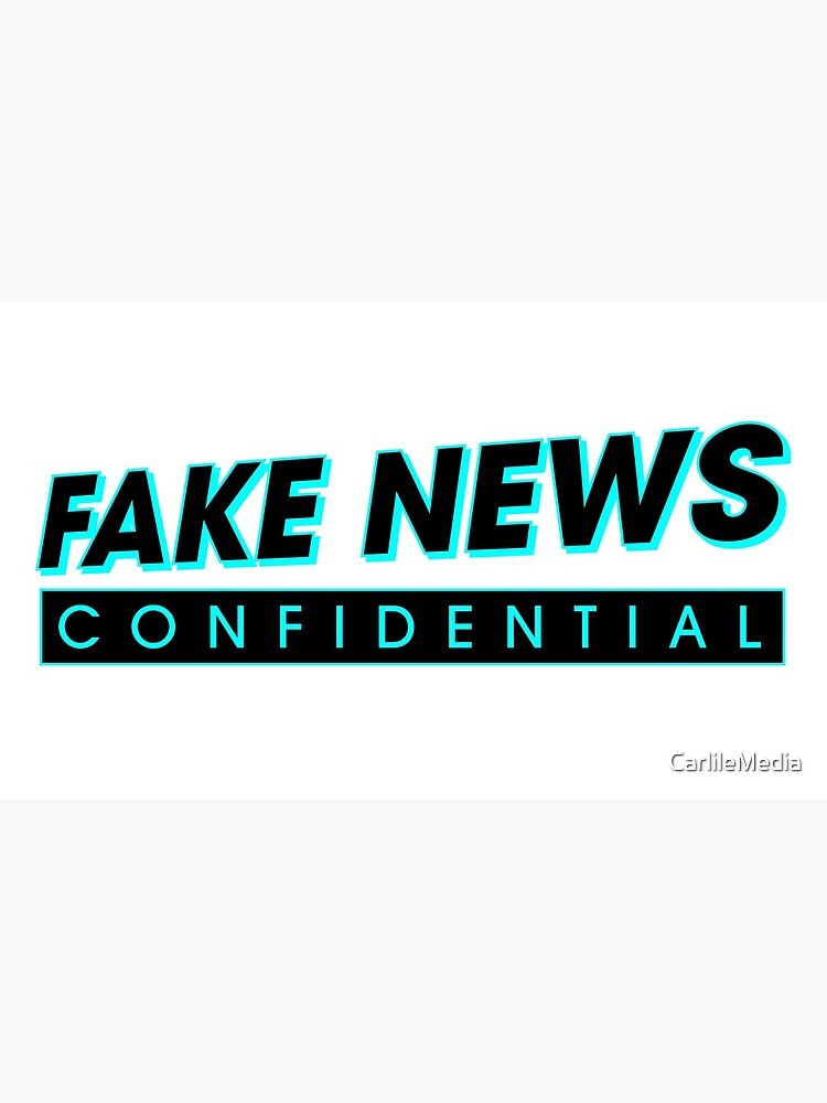 Fake News Confidential Logo by CarlileMedia