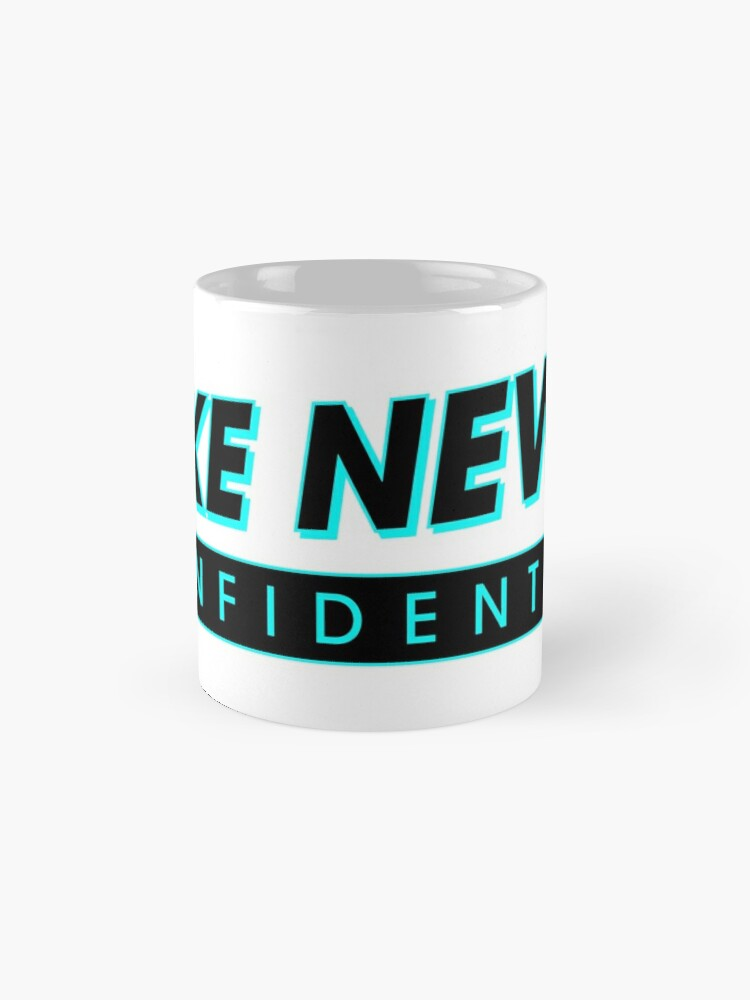 Alternate view of Fake News Confidential Logo Mug