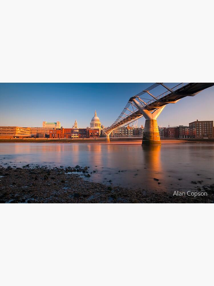 UK, London, St. Paul's Cathedral and Millennium Bridge over River Thames   Alan Copson © 2010 (20046-15) by AlanCopson