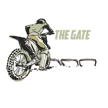 Motocross Shirt Dirt Bike Tee Drop The Gate T-Shirt Brap by noirty