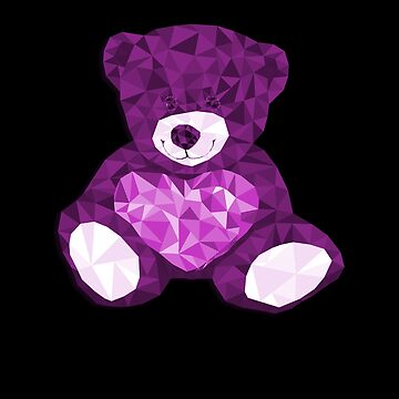 Sparkling baby bear with heart by Myriala