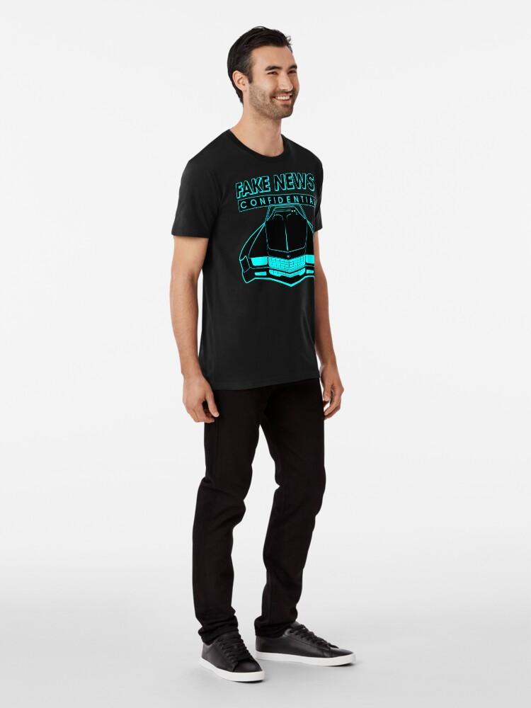 Alternate view of Fake News Confidential - Cadillac Eldorado Premium T-Shirt