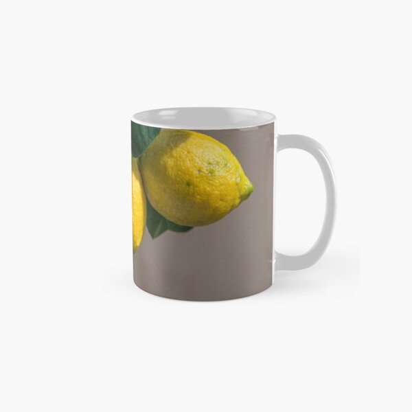 Fresh Lemons Growing on a Lemon Tree in Italy Classic Mug