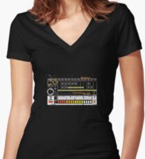 Tr-808 Women's Fitted V-Neck T-Shirt