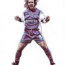 Gabriel Batistuta Traditional Pencil Drawing by madebyfrankie