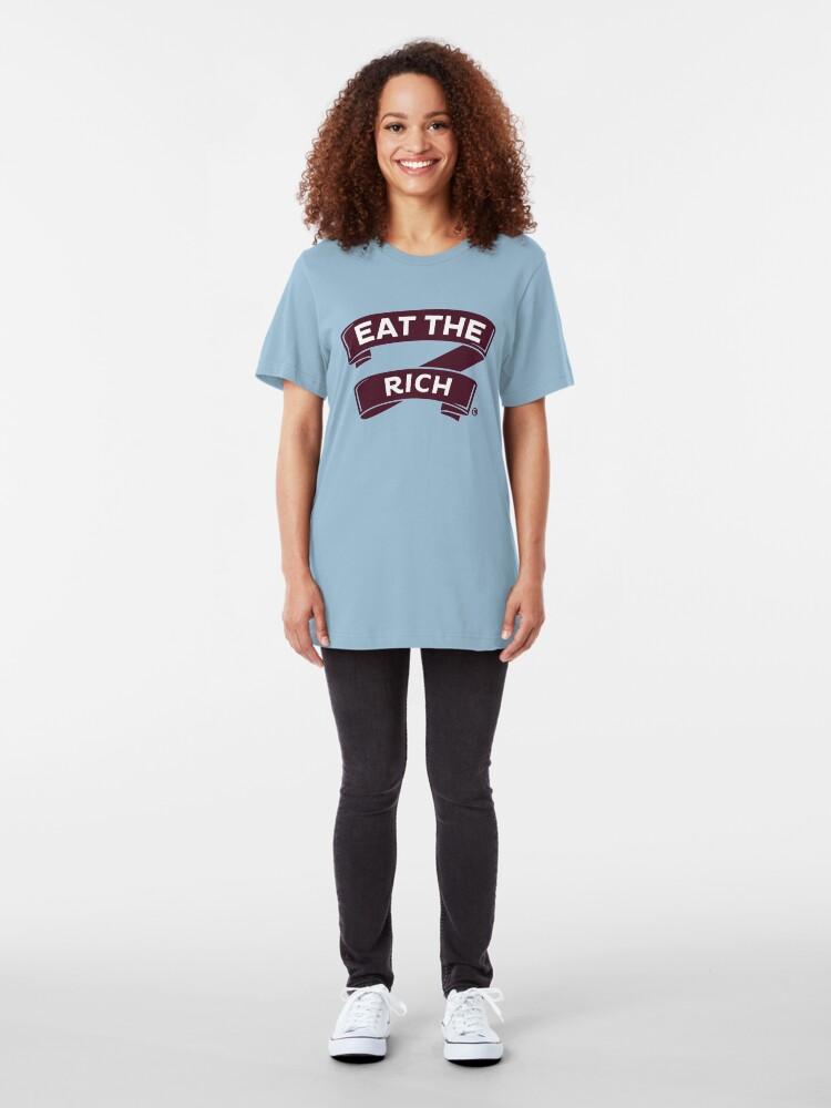 Alternate view of Muffin: Break Wage Theft Slim Fit T-Shirt