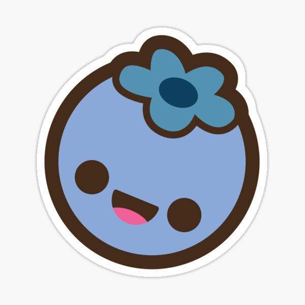 Blueberry cute smile Sticker