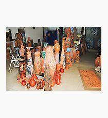 sculptures in ceramic F.K 35 Photographic Print