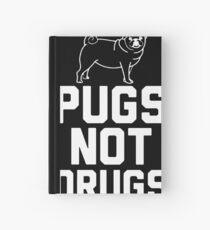 Pugs Not Drugs [White] Hardcover Journal