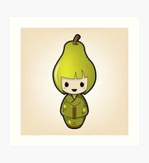 Pear Kokeshi Doll Art Print