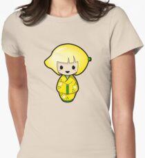 Lemon Kokeshi Doll Womens Fitted T-Shirt