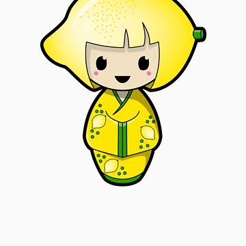 Lemon Kokeshi Doll by BubbleDoll