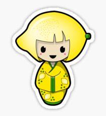 Lemon Kokeshi Doll Sticker