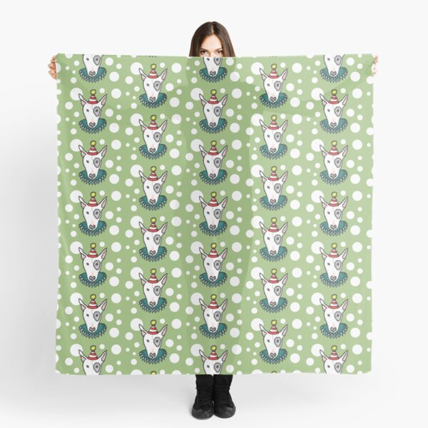 English Bull Terrier in a party hat - Pattern 2 Scarf