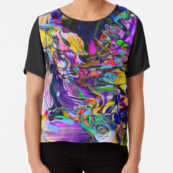 waving swirling flow abstract Chiffon Top