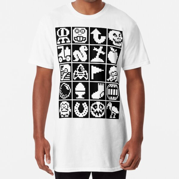 Tiled Retro Gaming Sprites Long T-Shirt