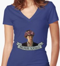 Because Science, Jawn Women's Fitted V-Neck T-Shirt
