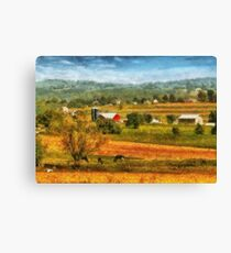 Country - Cows Grazing Canvas Print