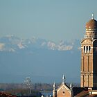 The Bell Tower and the Mountains by Nerone