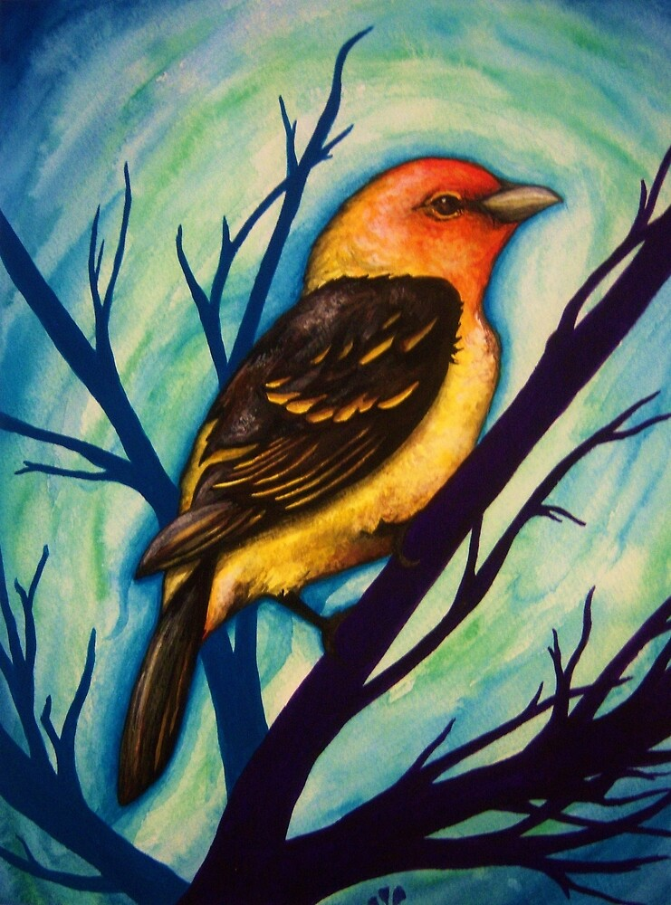 Western Tanager by Mandy Moonbird