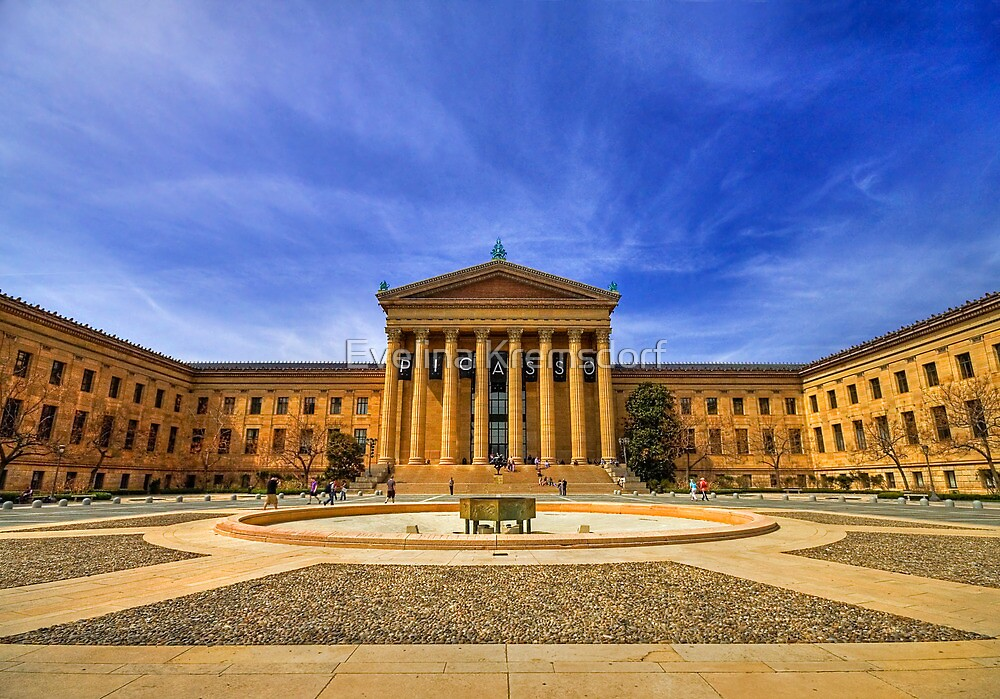 Philadelphia Art Museum by Evelina Kremsdorf