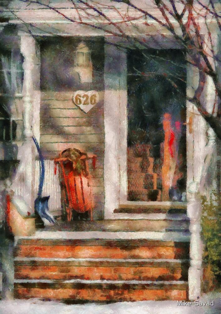 Winter - Rosebud and Shovel by Michael Savad