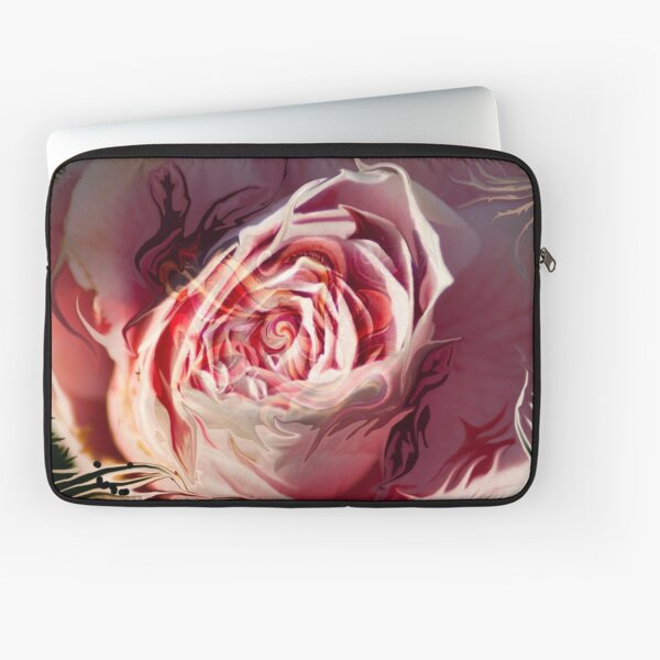 abstract rose blossom Laptop Sleeve